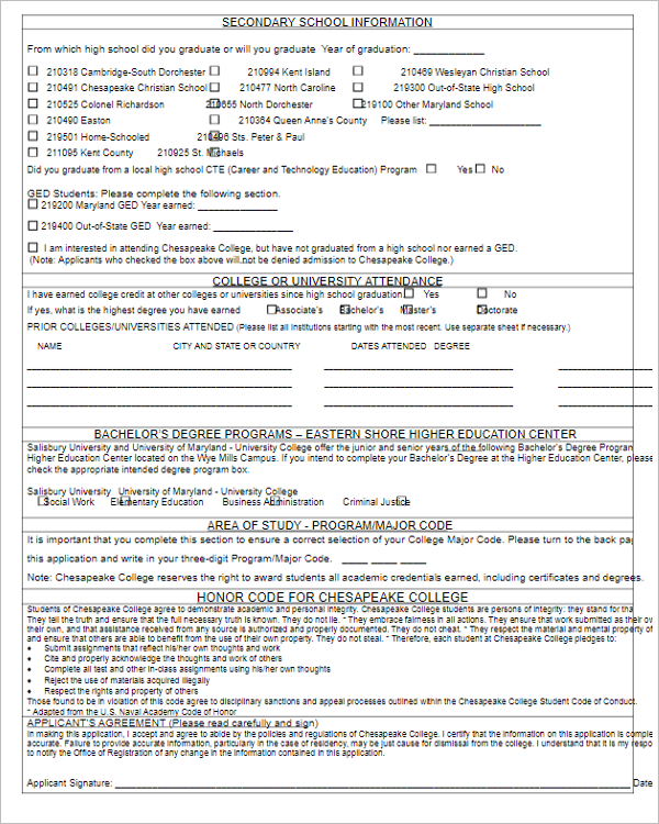 Hospital Admission Form Template  Admission Form Format For School
