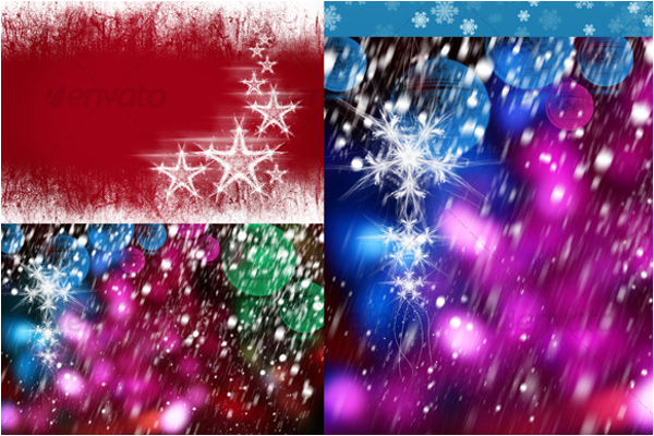 Colorful Christmas Background Design