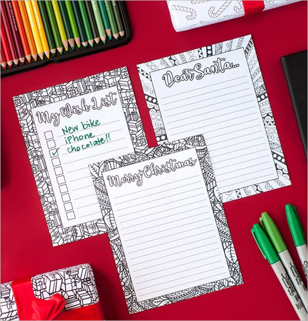 Colorful Christmas Stationery Design
