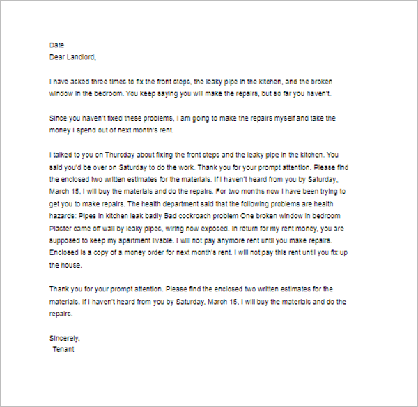 Complaint Letter Template to Council