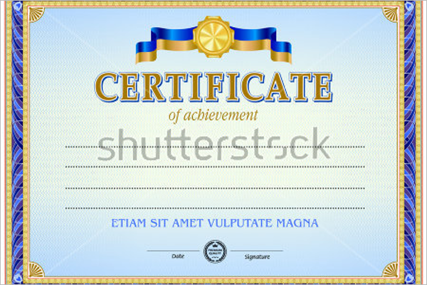 Computer Experience Certificate Template