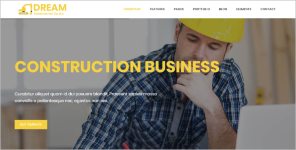 Construction & Business Bootstrap Website Template