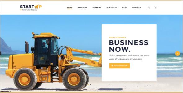 Construction Business PSD Website