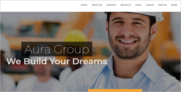Construction Contractor Responsive HTML Template