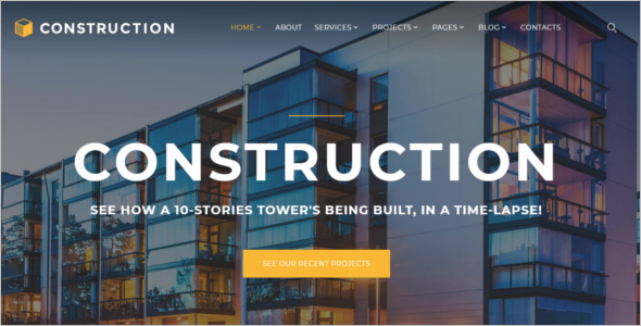 Construction Multipage Website Template