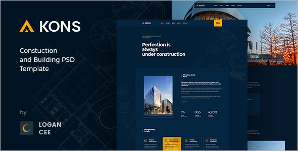 Construction PSD Website Template