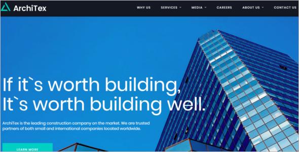 Construction Responsive Website Template