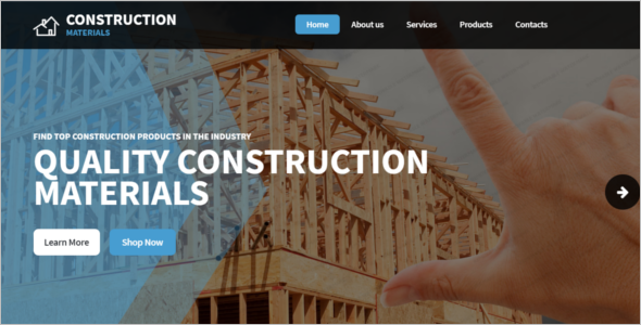 Construction Website Design Template