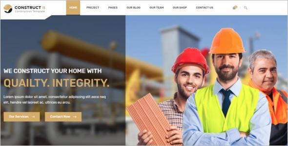 Construction Website Template HTML