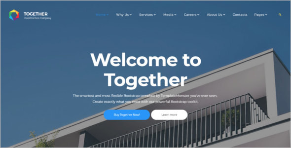 Construction Website Templates HTML