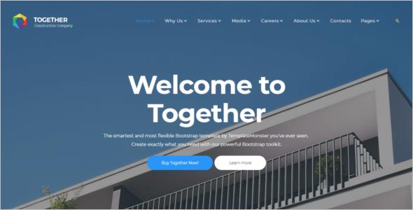 Construction Website Templates HTML