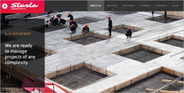 Construction Website WordPress Template