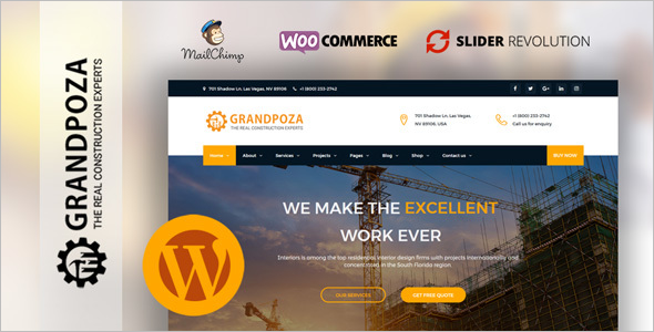Construction WordPress Website Theme