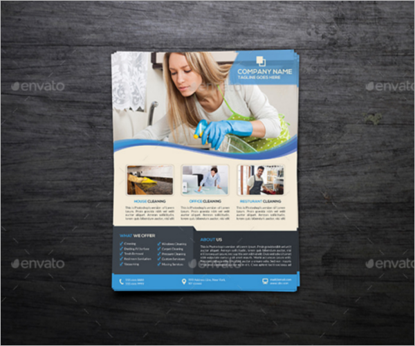 Corporate Cleaning Flyer Template
