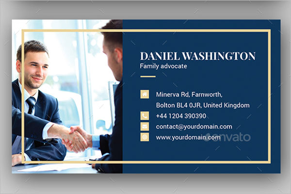 Corporate Lawyer Business Card Template