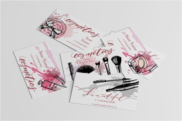 Cosmetics Business Card Design