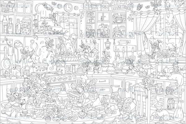 Creative Christmas Coloring Page