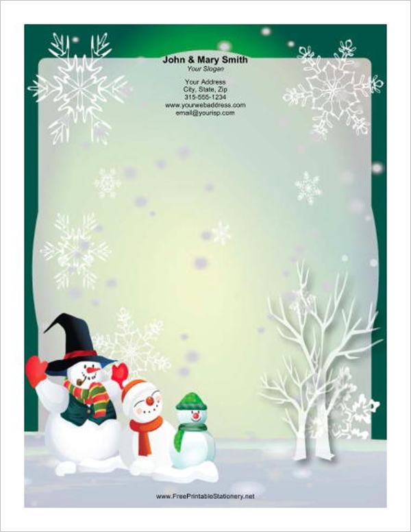 15 christmas letterhead templates free word designs christmas letterhead template spiritdancerdesigns Images