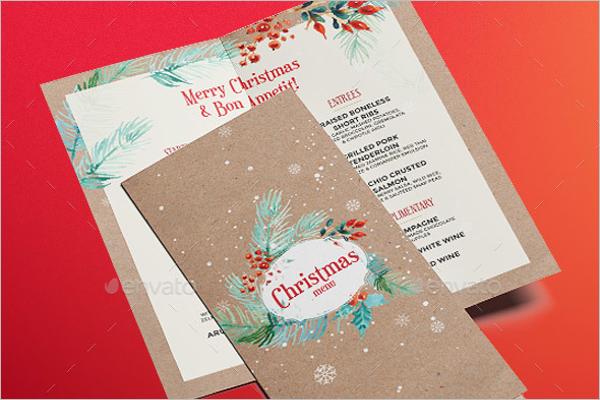 Creative Christmas Menu Template