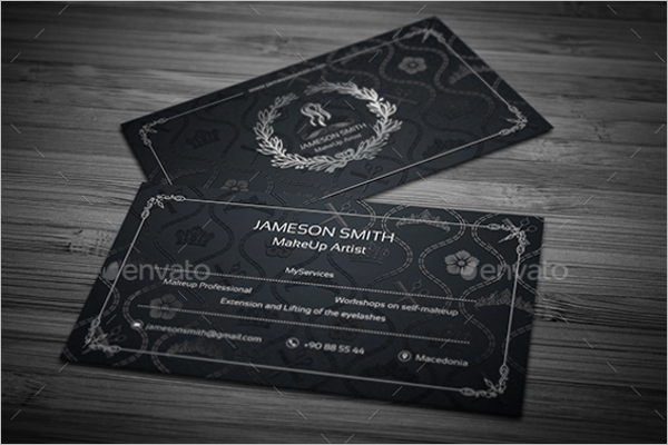 Creative Makeup Business Card Template