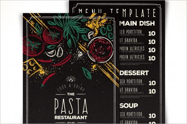 Creative Restaurant Menu Template