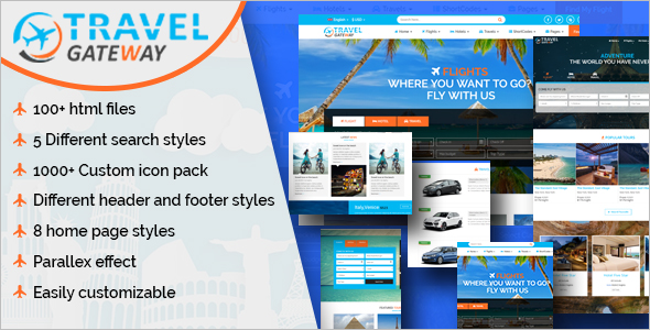 Creative Travel Agency HTML 5 Template