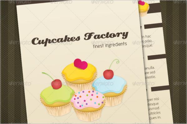 Cupcakes Bakery Menu Template