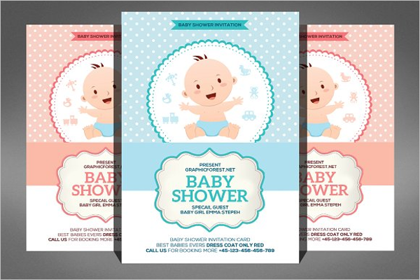 26+ Baby Shower Flyer Templates Free PSD, WORD Sample Ideas