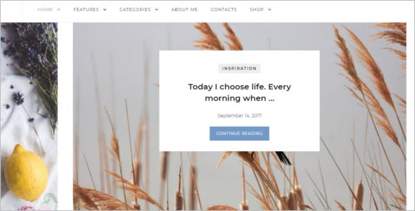 Cute Blogger Website Template