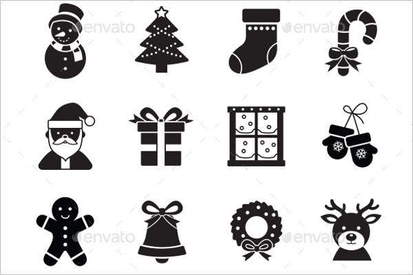 Cute Christmas Icon Design