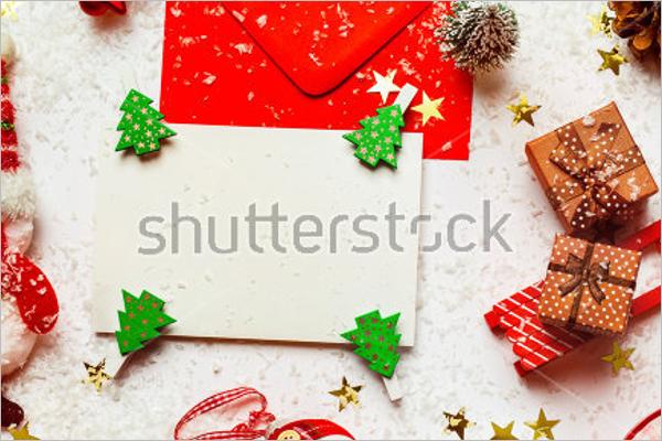 Decorated Christmas Card Mockup