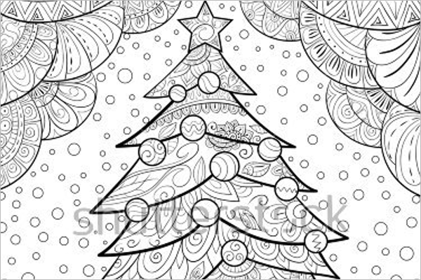 Decorative Christmas Coloring Page