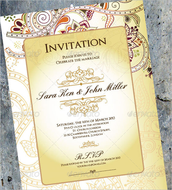 Decorative Wedding Menu Design