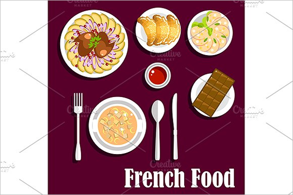 Delicious French Cuisine Menu Template