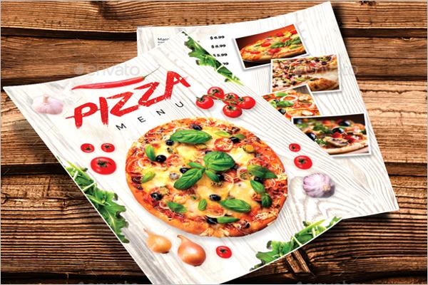 Delicious Pizza Menu Template