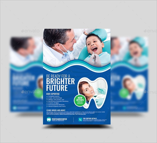 Dental Advertisement Flyer Template
