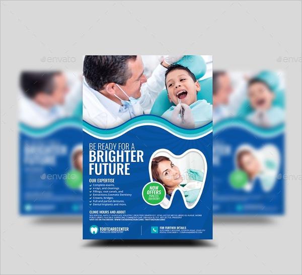 Dental Advertisement Flyer Template