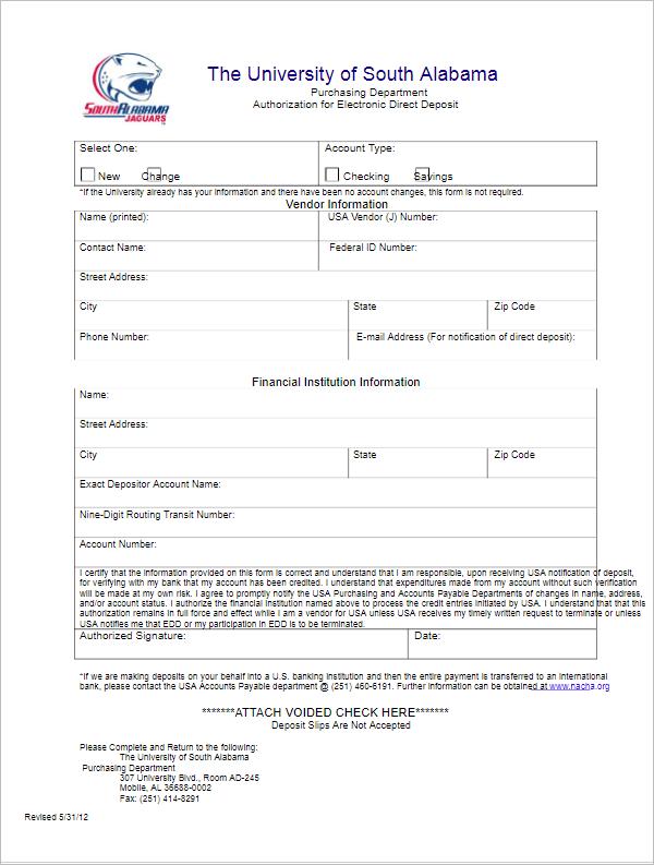 enrollment form templates