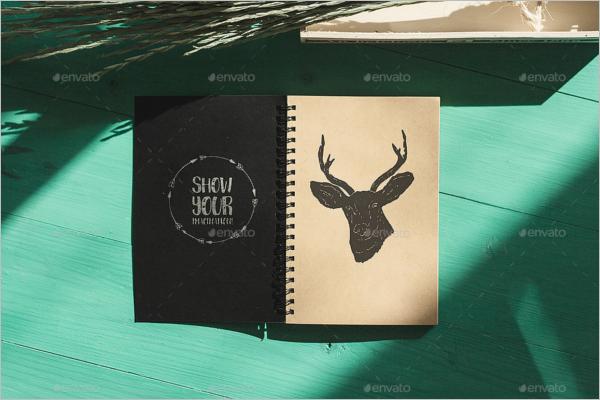 Draft Book Mockup Template