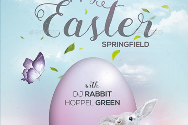 Easter Celebration Flyer Template
