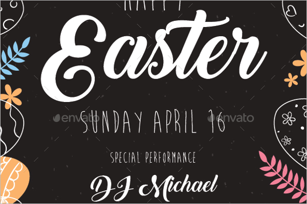 Easter Flyer PSD Template