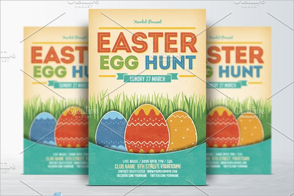 Easter Flyer Photoshop Template