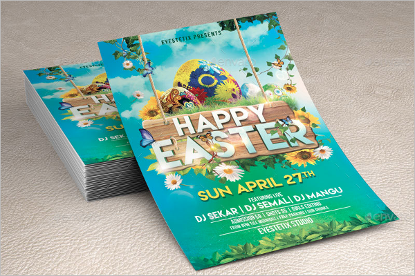 Easter Flyer Template Word