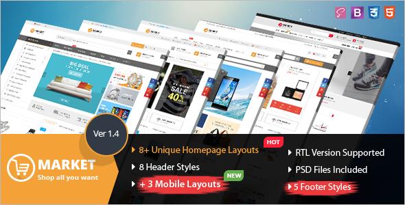 Ecommerce Website Template HTML
