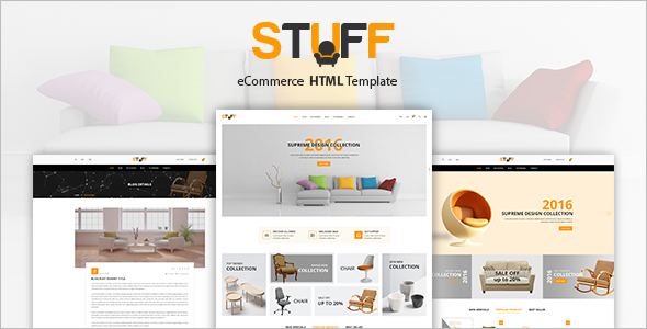 Ecommerce Website Template Shopping Cart