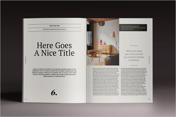 Editable Brochure Design