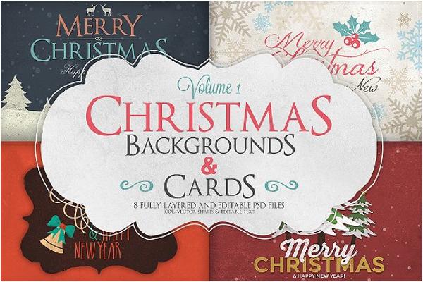 Editable Christmas Background Design