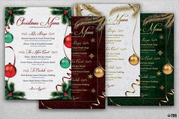 Editable Christmas Menu Template