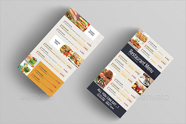 Editable Food Menu Design