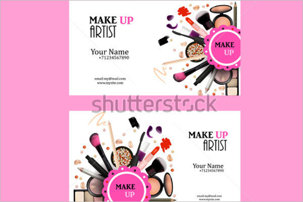 Editable Makeup Business Card Template